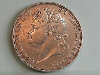 George Iv Silver Crown Coin Dated 1821 *Secundo*