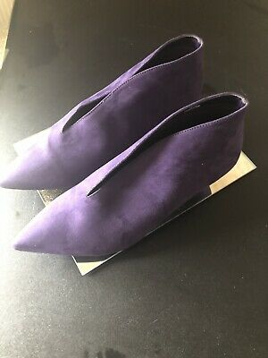 New Vcut Purple Boots M&S Size 6.5