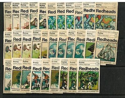 1970 Matchbox Labels Redheads Captain Cook' Used - Spares Over 30 Off