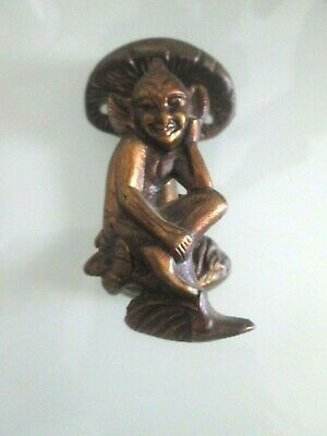 Old Brass Pixie Cornish Door Knocker