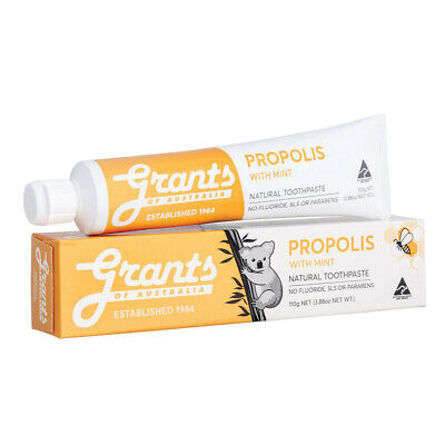 New Grants Natural Toothpaste Propolis with Mint 110g GMO Free Protect Mouth Gum