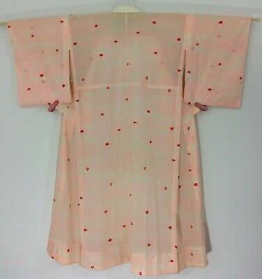 Japanese women's juban for kimono, medium, silk, pink, Japan import (AC2643)