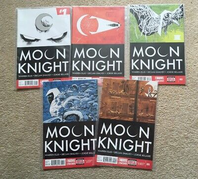 Moon Knight #1 - #5 - Ellis & Shalvey - VF+ (2014) - First Print