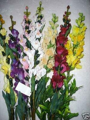 Pack 10 Stems Mixed Anttirinum 'Snapdragons' Silk Flowers RRP £3.50 Each!!