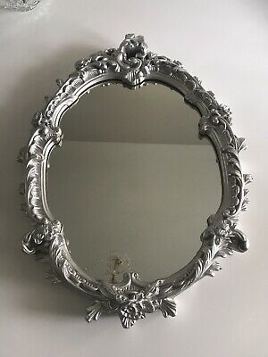 French Rococo/ Louis Style Silver Ornate Mirror