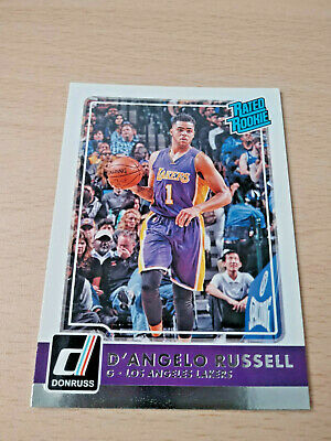 2015-16 Panini Donruss-[Base] #218 Rated Rookies - D'Angelo Russell Los Angeles