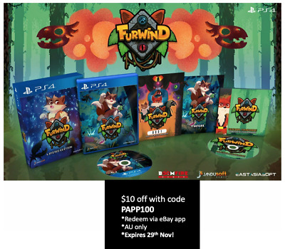 Furwind Limited Edition Playstation 4 EastAsiaSoft Limited Run Sealed Sold Out!