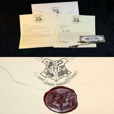 Harry Potter School Acceptance Letter London To Hogwarts Tickets Cosplay Gift