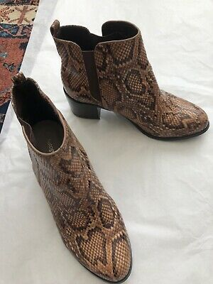 Ladies boots brown snake skin effect Marks and Spencers, size 6.5
