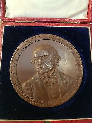 BRITISH BRONZE MEDAL Medallion - WILLIAM GLADSTONE 1884 NATIONAL LIBERAL CLUB