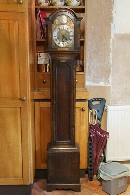 8 day grandmother clock c/a 1930 with Westminster and Whittington chimes NO RES.