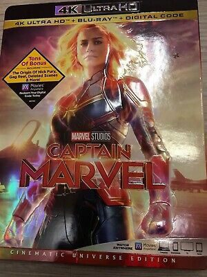 BRAND NEW Captain Marvel 4K HD Blu Ray With Digital