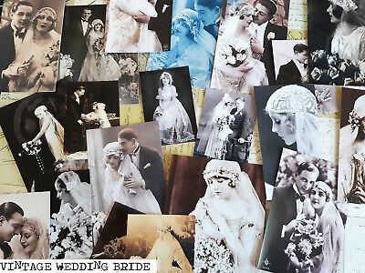 50 Vintage Wedding Fashion Bride Ephemera Image Scrapbook Junk journal Kits