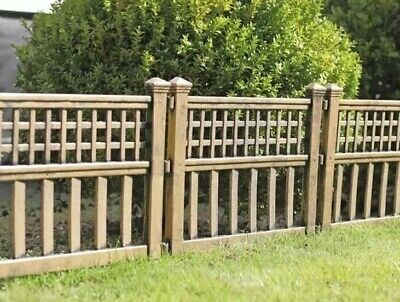 Instant Garden Bronze Effect Fence Panels Pack Of 4 Border Patio Edge Landscape
