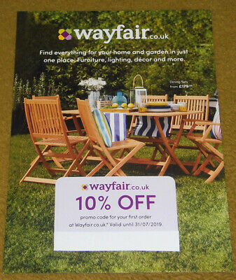 Wayfair 10% OFF Promo Code for Your First Order - Valid until 31/07/2019 #1