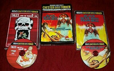 Black Devil Doll from Hell & Tales from the Quadead Zone DVD Box Set VHS RARE