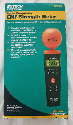 Extech 480836 RF EMF Strength Meter High Frequency measurement  50MHz to 3.5GHz