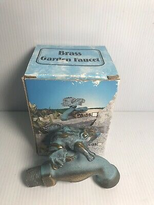 Brass Small FROG Garden Yard Faucet Tap Spigot Vintage NEW IN BOX