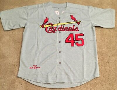16a0fd0a Bob Gibson St Louis Cardinals Retro Throwback 1967 Jersey Mens XXL ROAD GRAY  NEW