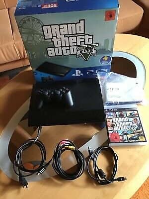 Sony Playstation 3 Super Slim Grand Theft Auto V 500GB Charcoal Black...