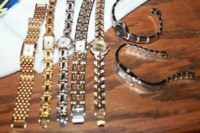 Lot Of 7 Watches Vintage metal womens gold and silver Bulova & Bulova Caravelle