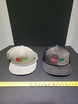 (2) Vintage CF Consolidated Freightways Trucker Snapback Corduroy Hats
