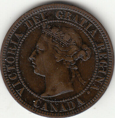 1882H Victoria Large Cent VF 20