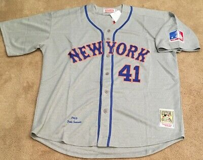 on sale 7a4ea 02d88 TOM SEAVER NEW York Mets Retro Throwback Jersey Mens XL NWT 1969 Road Gray