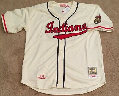 9c2429c2 Bob Feller Cleveland Indians Retro Throwback Jersey Mens XL NWT 1948 Home  White