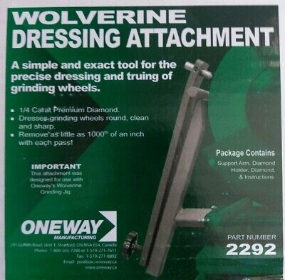 Oneway Wolverine Dressing Attachment for Benchtop Grinders