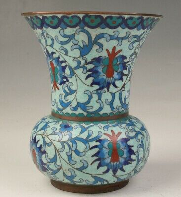 Precious Chinese Cloisonne Hand Carving Vase Decorative Gift Collection