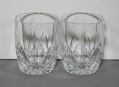 """2 Brookside Marquis Oversized Double Old Fashioned Tumblers 4 3/8"""" - Waterford"""