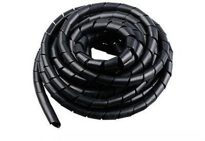 12mm DIA 3 MTRS Cable Conduit Casing Sleeve Winding retardant spiral black Flex