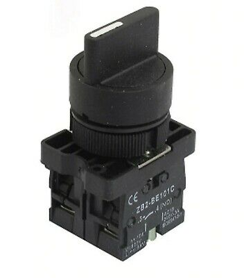 22mm 3 Pos Position 2NO Conection Maintained Select Selector Rotary Switch 3A