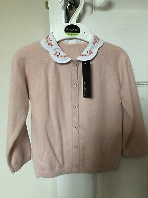 M & S 12-18 Month Autograph Girls Cardigan With Collar
