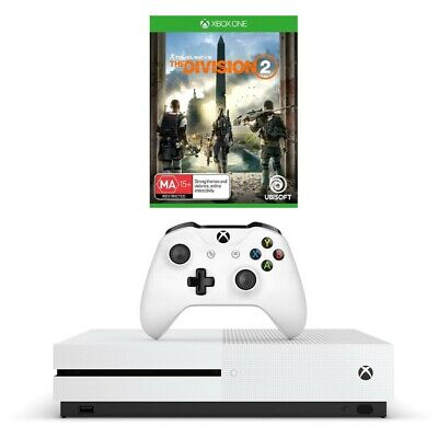 Xbox One S 1TB Console + Division 2 Download Token + 1 Month Xbox Live and 1 ...