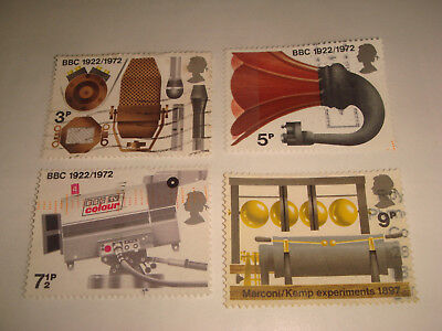 1972 - GB Commemorative stamps -Broadcasting Anniversaries -set of 4 used stamps