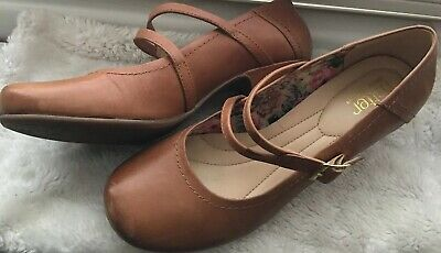 efcc77d900c8b HOTTER Shoes VANESSA Tan LEATHER MARY JANE STRAP SIZE 7 41 STD Vintage Style