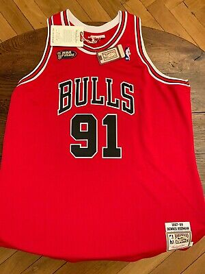 Denis Rodman 1997-98 Finals Road Authentic Jersey by Mitchell & Ness