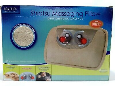 Homedics Shiatsu Massaging Pillow Deep Kneading Massager With Heat EUC Clean