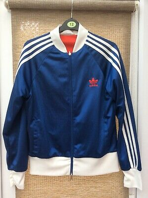 adidas reversible jacket Jumper Blue And Red Retro Rare