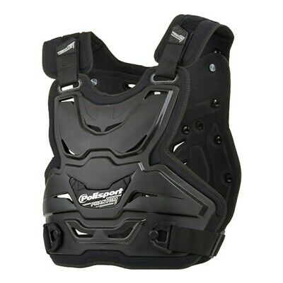 Polisport Phantom Light Adult Body Armour Roost Deflector Mx Racing Black