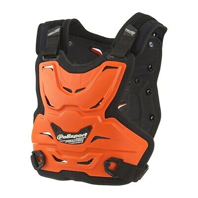 Polisport Phantom Light Adult Body Armour Roost Deflector Mx Racing Orange