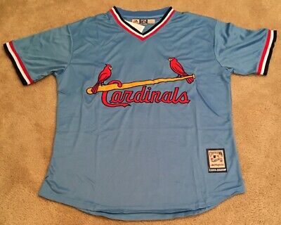 81744807 Ozzie Smith St Louis Cardinals Retro Throwback Jersey Mens XL NWT 80's Road  Blue