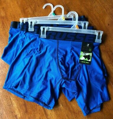 MEN'S RUSSELL PERFORMANCE Boxer Brief -Active/Sport Blue -Price Per One Pair