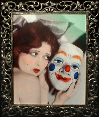 "Haunted Antique Vintage Photo the ""EYES FOLLOW YOU"" Clown mask"