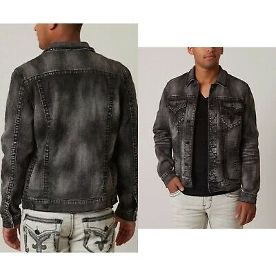 ROCK REVIVAL LUCIANO Denim Jacket Studded Distressed Look