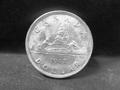 1947 ML Key Date Canadian silver dollar possible error coin see photos