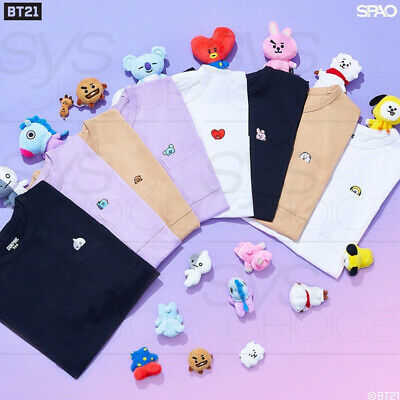 BTS BT21 Official Authentic Goods Short Sleeve Pocket T-Shirts by SPAO + Track#