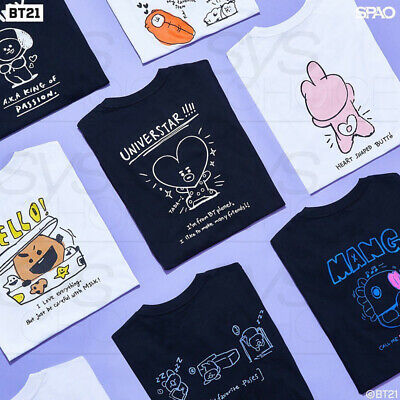 BTS BT21 Official Authentic Goods Short Sleeve Loose Fit T-Shirts by SPAO